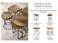 Natural string stools
