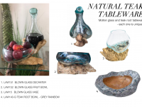 57 - Natural Teak Tableware